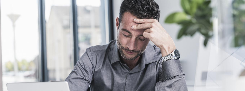 Patient mit Migräne